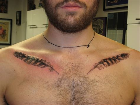 tattoo chest feathers chest tattoo images designs