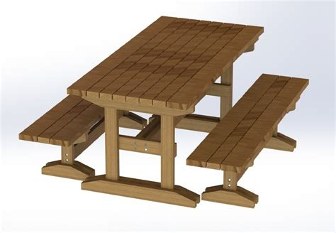 plans to build a picnic table and benches 8ft trestle style picnic table with benches plans easy