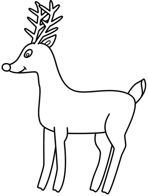coloring pages deer rudolf rudolph reindeer pictures cliparts co
