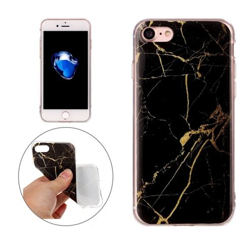 Black Marble Iphone 7 for iphone 7 black marble pattern soft tpu protective