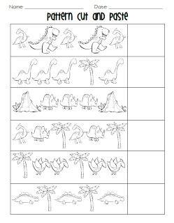 bead pattern worksheet kindergarten cut and paste pattern worksheets color