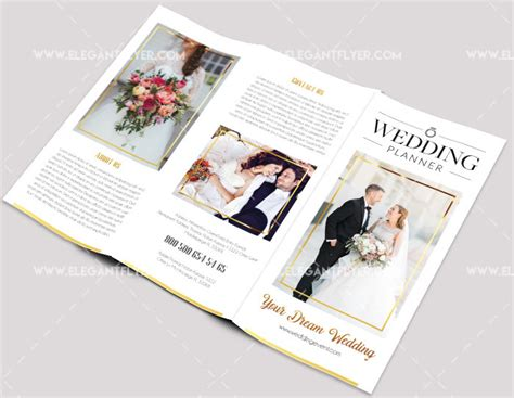 Wedding Tri Fold Brochure Template by 50 Free Business Brochure Templates Psd To