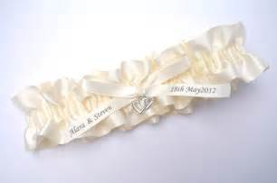 personalised ivory wedding garters australia