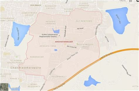 nisarga layout bannerghatta road map akshayanagar layout an upcoming locality without