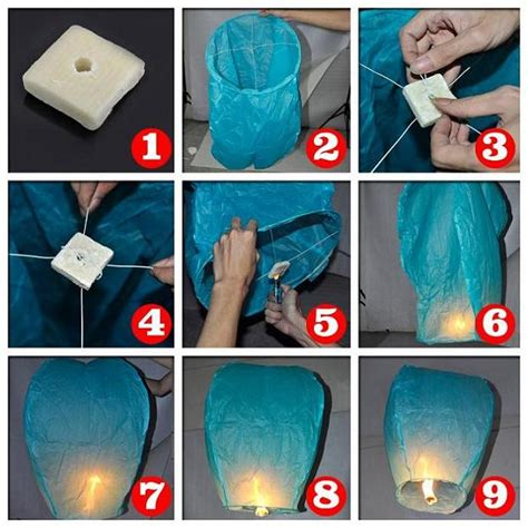 Make A Flying Paper Lantern - edge of