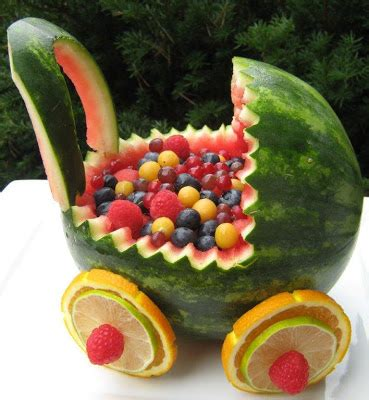 baby shower fruit stroller the happy kitchen watermelon baby buggy