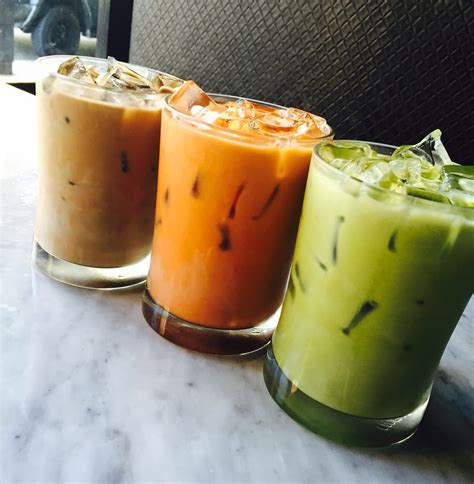 Greentea Thai Greentea 350ml thai iced coffee thai iced tea and iced green tea latte yelp