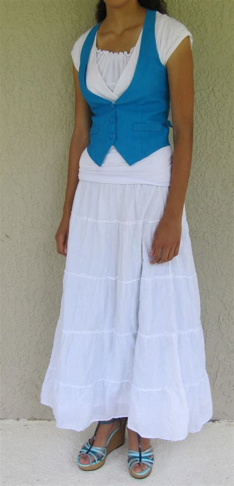Peny Layer Shirt Dress White this is my younger in a blue vest and white shirt