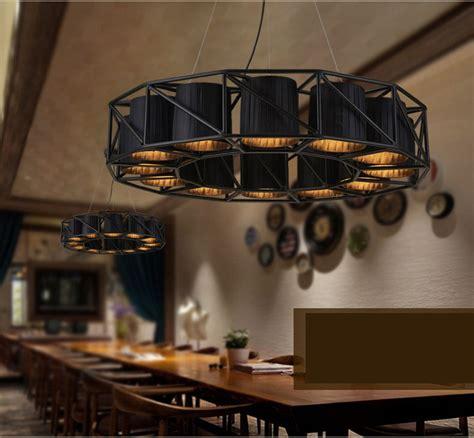 large vintage loft black wrought iron spider pendant light