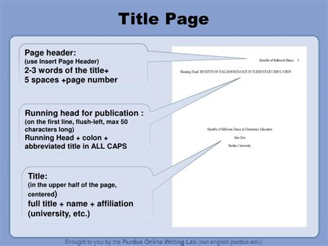apa style coverpage apa citation guide