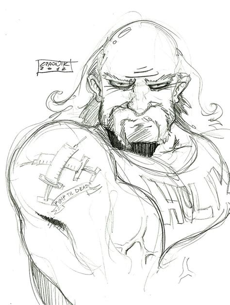 hulk hogan pages coloring pages
