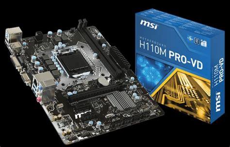 Msi H110m Pro Vh Lga 1151 msi h110m pro vd desktop motherboard intel h110 chipset socket h4 lga 1151