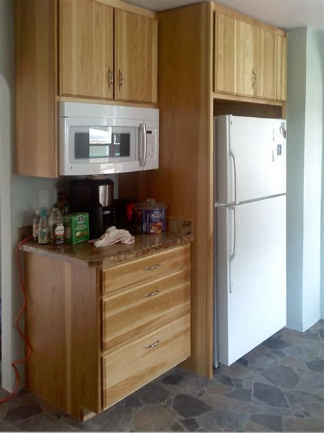 kitchen cabinet for microwave kitchens remodeled spokane contractor