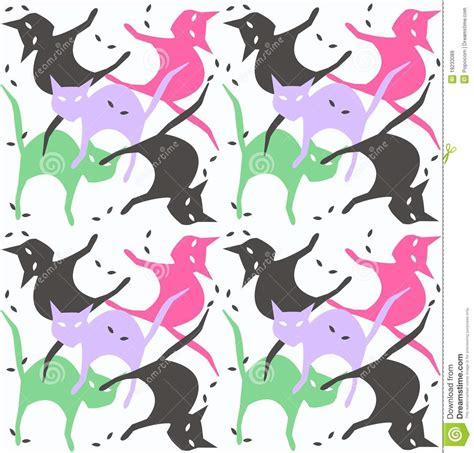 seamless pattern cats seamless cat pattern royalty free stock images image