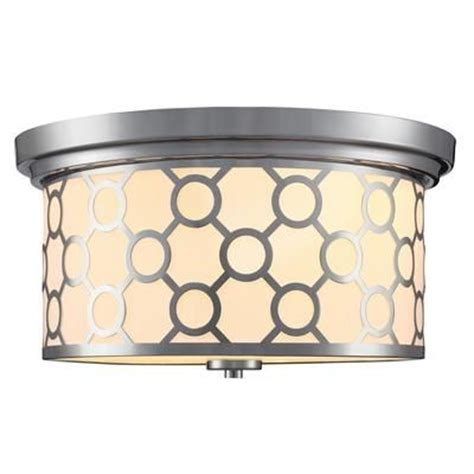 home depot bedroom lighting home decorator s collection 2 light flush mount ceiling