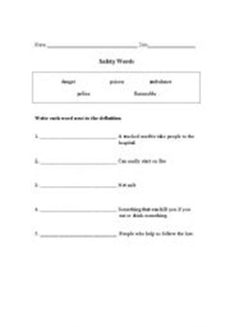 Survival Signs Worksheets by Worksheets Survival Words
