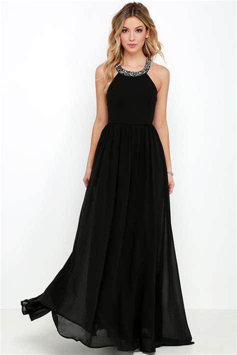 black gown maxi dress beaded dress