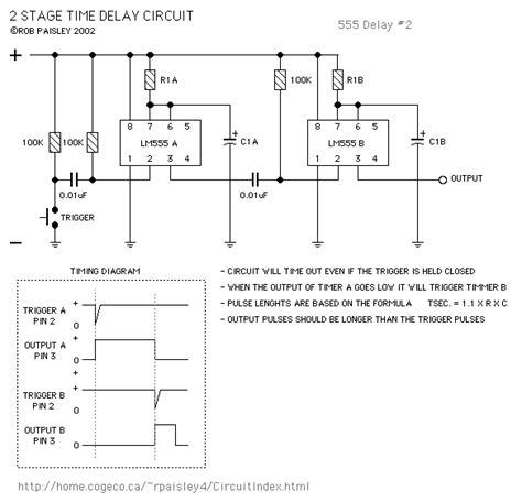 555 delay timer circuit diagram simple 555 delay