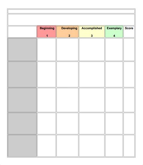 rubric template word search results for rubric template calendar 2015
