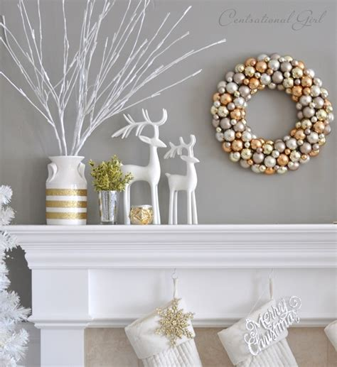 mantel decor my simple winter mantel lighted branches epsom salt and urn mixed metallics christmas mantel centsational style