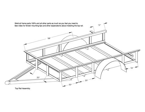 Building Plans For Utility Trailers Utility Trailer Plans 6x10 Red Wing Steel Works