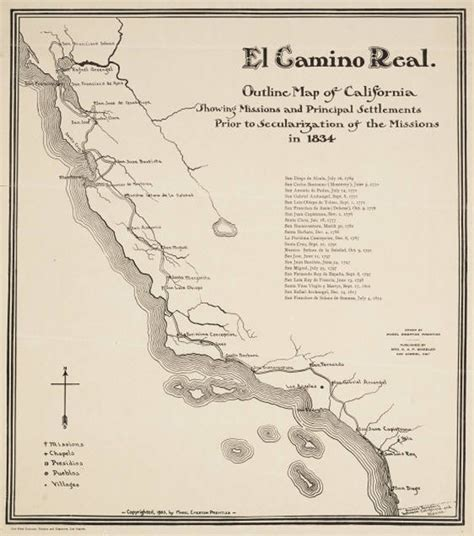 El Camino Map by Many Roads To The Historical Southland Kcet