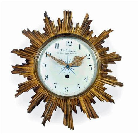 What Is A Sunroom Edwardian Gilt Metal Sunburst Wall Clock Early 20th