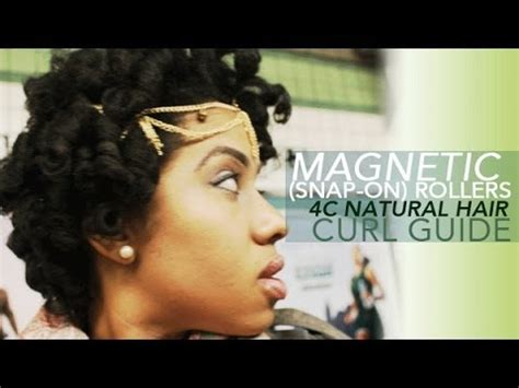 magnetic rollers on short natural hair youtube fluffy curls on 4c natural hair magnetic curlers roller