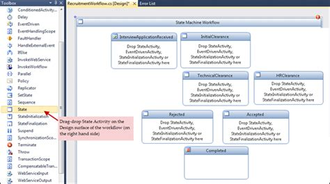 workflow state sharepoint 2010 state machine workflows with custom task