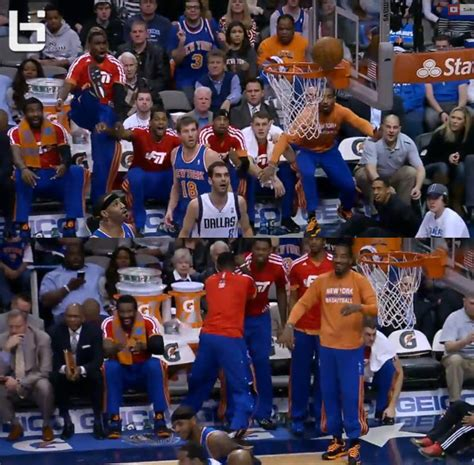 knicks bench the knicks bench reacts to carmelo anthony missing a dunk