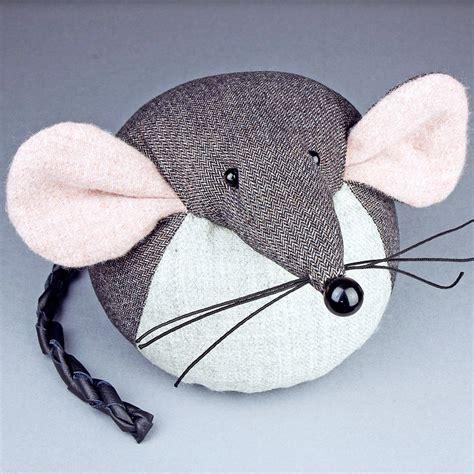 Handmade Door Stop - handmade mouse door stop by mirjami design