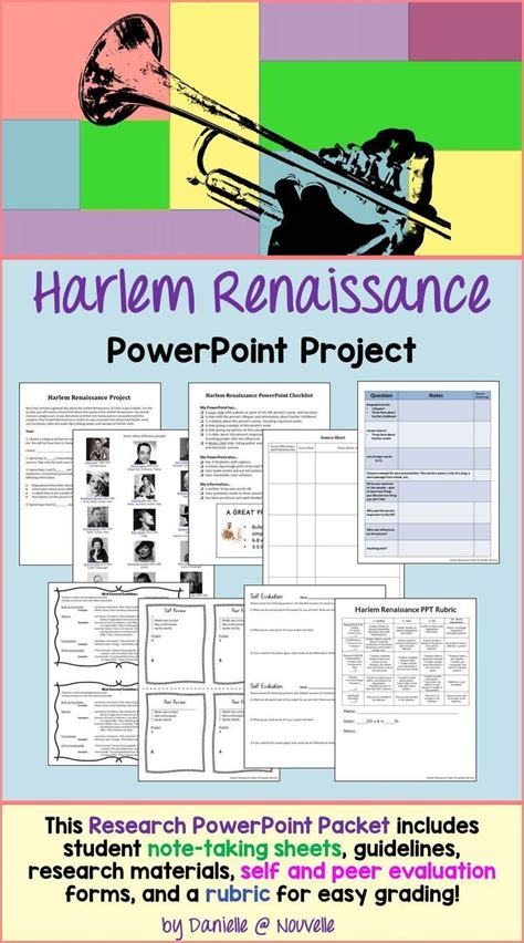 Harlem Renaissance Research Paper Assignment by A Research Ppt Project On The Harlem Renaissance For Ec Esl Ell And Low Performing