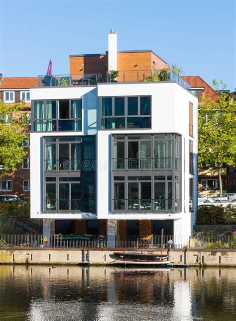 townhouse at the waterside hamburg stock image image of - Townhouse Hamburg