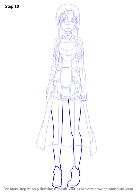 tutorial drawing online step by step how to draw asuna from sword art online