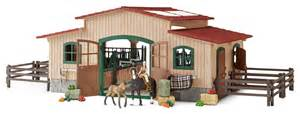 Playmobil Medieval House With Barn amazon com schleich horse stable with accessories toys