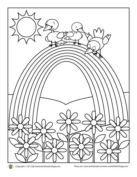 coloring pages of the rainbow worksheet rainbow worksheets grass fedjp worksheet study