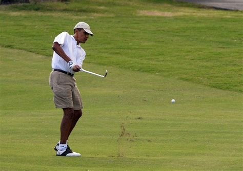 barack obama golf swing president barack obama finishes vacation round of golf