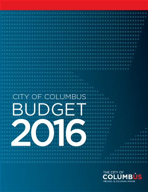 budget cover page template 2016 proposed operating budget