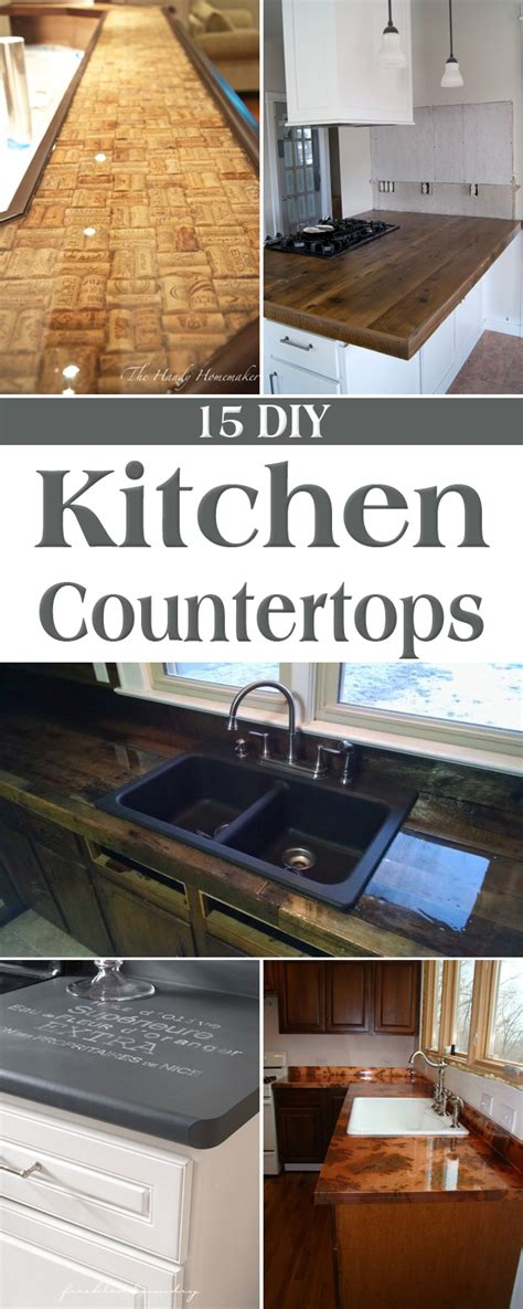 diy kitchen countertops ideas 15 amazing diy kitchen countertop ideas