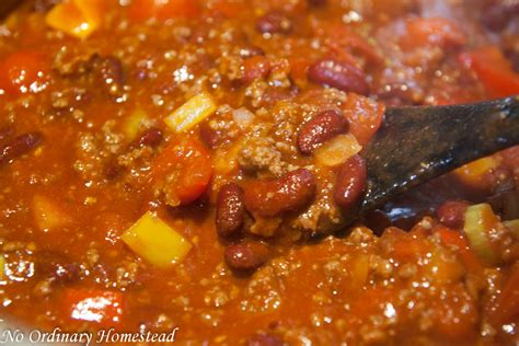 best chilli the best chili recipe no ordinary homestead