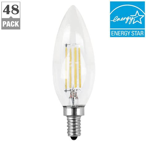 Led Light Bulbs Candelabra Base 60w Feit Electric 60w Equivalent Daylight 5000k B10 Dimmable Filament Led Candelabra Base Clear