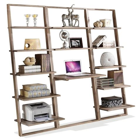 riverside furniture lean living leaning bookcase in smoky driftwood riverside furniture lean living 3 leaning desk and
