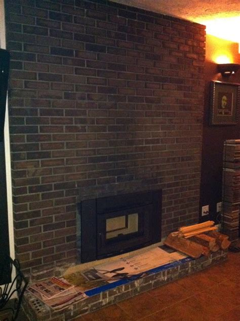 How To Modernize A Brick Fireplace by Easily Update And Modernize Your Fireplace Refacing A