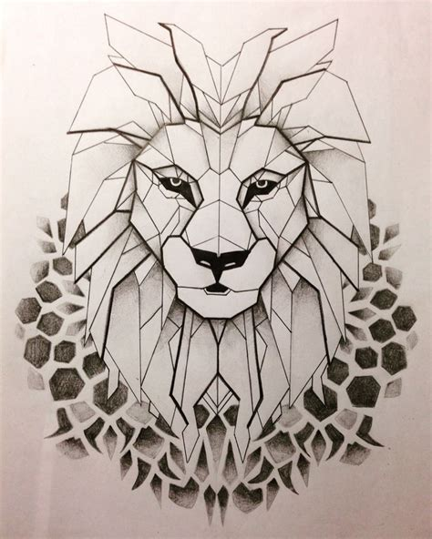 geometric tattoo artist sydney geometrical lion tattoo drawings pinterest geometric