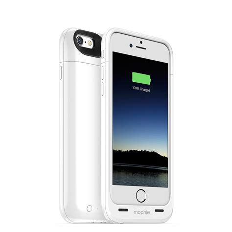 Wireless Battery Iphone 6 Plus 4200 Mah White mophie juice pack plus rechargeable external battery for iphone 6 3300 mah white at