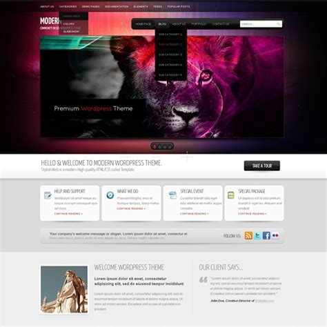 infusion wordpress template wp personal creative