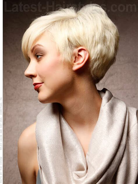 ladies short hairstyles over the ears short hairstyle long in front over the ear short