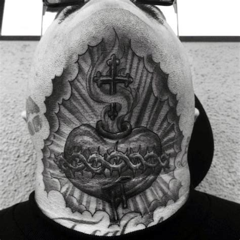 religious neck tattoo designs religious themed black ink neck of human and