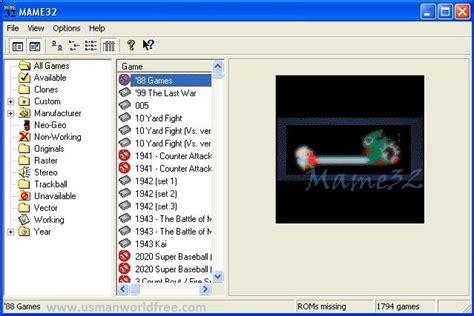 mame  version game pack  usman world