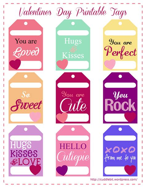 printable gift tags for valentines valentine s day love packs free printable valentines